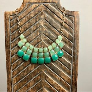 Green Ombre Bib Necklace